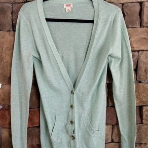 Mossimo pale mint cardigan